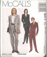 McCall's 8411 Misses' Lined Jacket, Top and Pants   Sewing Pattern