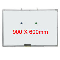 White Board Magnetic Dry Wipe 900mm by 600mm Free Eraser Notice Whiteboard