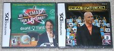 Nintendo DS Lot - Deal or No Deal (New) Are You Smarter Than a 5th Grader? (New)