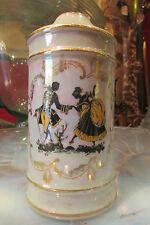 ancien corps de lampe en porcelaine irisée marquis marquise a monter vintage 60
