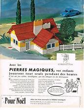 PUBLICITE ADVERTISING 1963    PIERRES MAGIQUES  jeux jouets