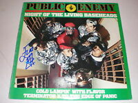 Public Enemy LP Night Of The Living Baseheads AUTOGRAPHED