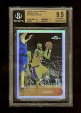 1996 KOBE BRYANT TOPPS CHROME REFRACTOR ROOKIE RC #138 BGS 9.5+ GEM MINT!