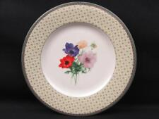 Poppy Memory by Mikasa Salad Plate Optima 1 Flowers Yellow Rim Lattice b29