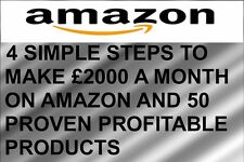 HOW TO MAKE £2000+ A MONTH ON AMAZON & 50 PROVEN PROFITABLE PRODUCTS - DOWNLOAD