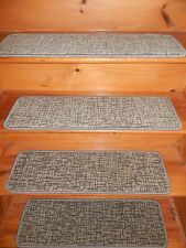 "13=STEP 9""X 30"" + Landing  27'' x 30'' Stair Treads Staircase WOVEN WOOL CARPET."