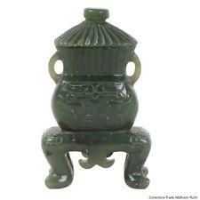 Cina 20. JH. COPERCHIO Vaso-a Chinese carved Jade vaso-chinois giada cinese