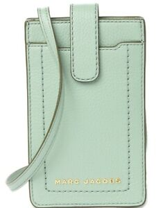 Marc Jacobs Mint Green Leather Crossbody Phone Case/Wallet NWT