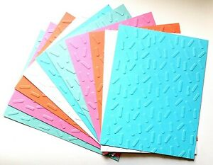 10 SPRINKLES Birthday Embossed Card Fronts Recollection Paper Flower Cardstock