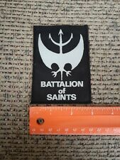 Battalion of Saints Punk Rock Band Sew on Cloth Patch NEW