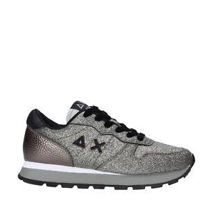Scarpe sneakers donna  sun68 Z40209/44 glitter argento autunno/inverno