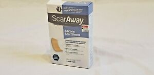 "SCAR AWAY 6 1/2 Silicone Scar Sheets Reusable 1.5"" x 3"" Face, Body, Surgery..."
