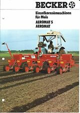 Farm Equipment Brochure - Becker - Aeromat S Planter Mais Corn GERMAN (F4845)