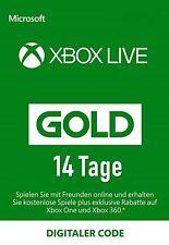 Xbox Live Gold 14 Tage Code Mitgliedschaft Karte Xbox One & 360 Card 14 Days Neu