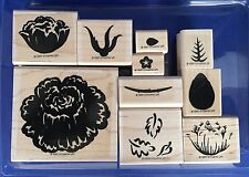Stampin' Up Definitely Decorative Regal Rose 10 Stamps Two Step Retired 1997