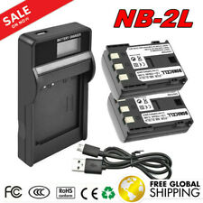 2X 1700mAh NB-2L Battery + LCD Charger For Canon EOS 350D 400D PowerShot G9 G7