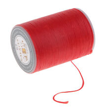 Red Flat Leather Sewing Waxed Thread Heavy Duty for LeatherCraft 98 Yards