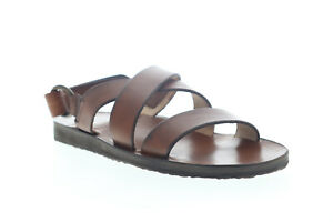 Frye Cape Cross Strap 80503 Mens Brown Leather Sport Sandals Shoes