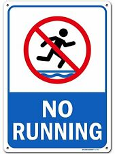 No Running Pool Safety Sign, Made Out of .040 Rust-Free Aluminum,.