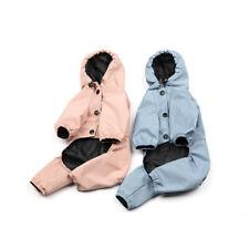 Dog Rain Coat Jacket Waterproof with Harness Hole Legs Hoodie Pet Rain Rainwear