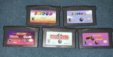 Authentic Nintendo Gameboy Advance Games Lot Snood 2 Risk Clue Millipede Breakit