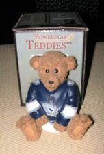 Edmonton Oilers Teddy Bear Handpainted 3rd Jersey NHL Collectible Elby Figurine