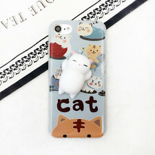 3D Lovely Squishy Finger Pinch Cat Phone Shell Cover Case For iPhone 5 6 7 Plus