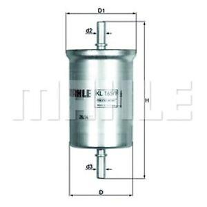 Inline Fuel Filter - MAHLE KL 165/1 - Car - Fits Smart FourTwo - Genuine Part