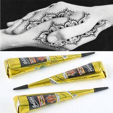 Black Natural Herbal Henna Cones Temporary Tattoo Kit Body Art Paint Mehandi Ink