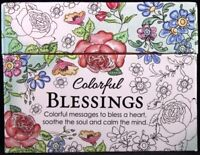 Colorful Blessings Cards to Color & Share God's Love Peace Joy Note Cards NEW