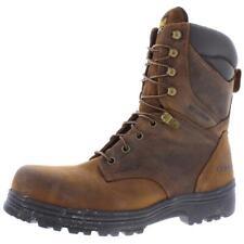 "Carolina Mens Surveyor 8"" Brown Work Boots Shoes 9.5 Extra Wide (EE) BHFO 7824"