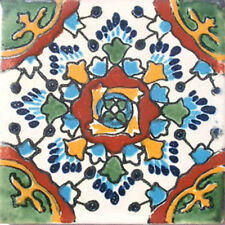 90 MEXICAN CERAMIC TILES WALL OR FLOOR USE CLAY TALAVERA MEXICO POTTERY #C032