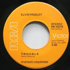 Rock 45 Elvis Presley - T-R-O-U-B-L-E / Mr. Songman On Rca Victor
