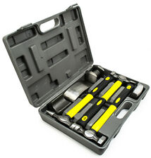Fiberglass Auto Body Repair Fender Hammer Dolly Dent Bender 7pc Tool Kit W/ Case