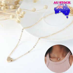 Wholesale 18K Gold Plated Chain With Tiny Love Heart Pendant Choker Necklace
