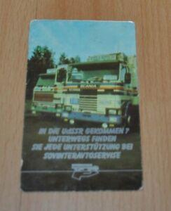 1988 Sovinteravto Service Sovtransavto Scania Truck Pocket Calendar No Brochure