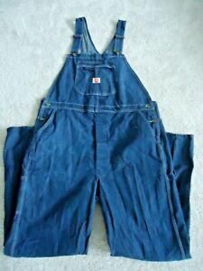 Red Kap Men's Denim Bib Overall, Denim, Size 44W x 34L NEW