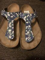 Papillio Birkenstock Floral Ankle 3 Strap Sandals Women's Size EU 37/L6 Narrow