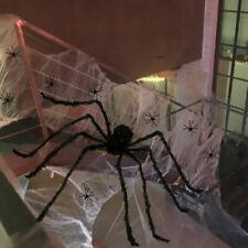7M Giant Spider Web Outdoor Halloween Decoration Prop Cobweb Spiders Set