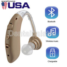 【USA】Digital Bluetooth Rechargeable Hearing Aid Mini In Ear Adjustable USB