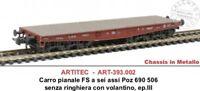 BS 393.002 carro pianale FS a 6 assi Poz 690 506 - ep. III