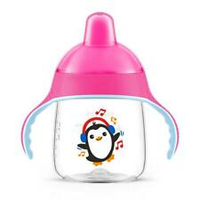 Philips Avent Spout Sippy Cup 260ml with Handles, No Drip for Toddlers 12m+ Pink