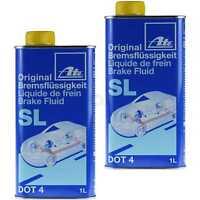 2x 1 Liter ATE Bremsflüssigkeit SL DOT4 Bremsen Flüssigkeit Brake Fluid