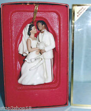Lenox African American Bride & Groom Ornament 2005 Collectible New In Box