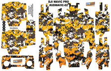 Yellow Camouflage DJI Mavic Pro Skin Wrap Decal Sticker Battery Body Ultradecal