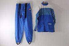 Fieldsheer Womens Sz Medium Blue White Rain Gear Suit Riding Outfit Pants Jacket