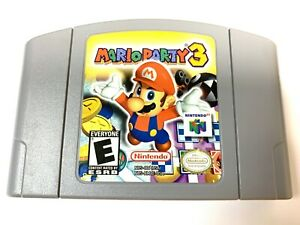 Authentic! Mario Party 3 N64 Nintendo 64 Game Tested WORKING Genuine OEM