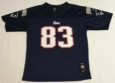 New England Patriots Football Jersey Wes Welker Youth Large #83 Blue Reebok NFL