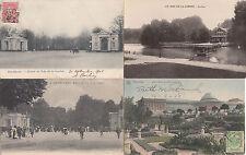 Lot 4 cartes postales anciennes BELGIQUE BRUXELLES bois de la cambre 2