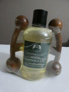 The Body Shop Unfragranced Body Massage Oil 8.4 fl oz 250 ml New & Sealed